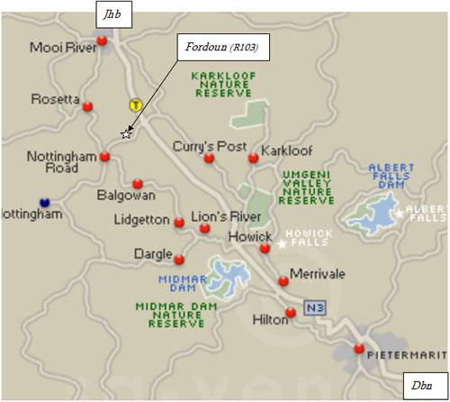 fordoun map